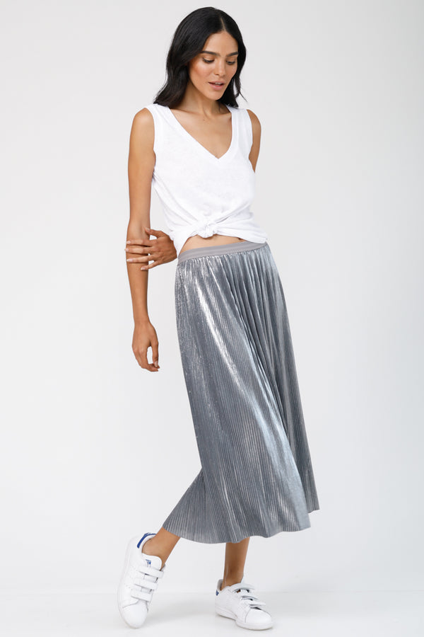 Dancing Queen plisse Midi Skirt