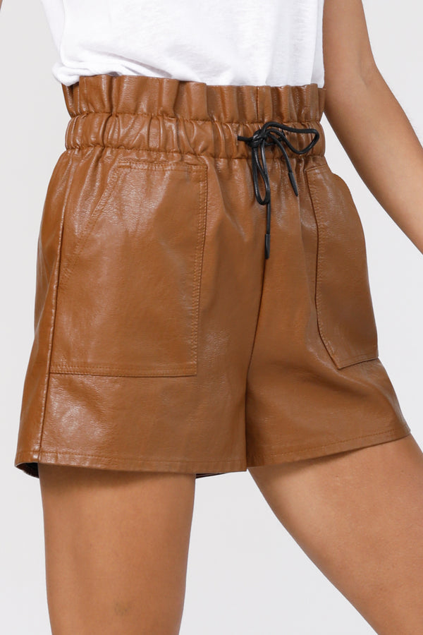 Paperbag Love Shorts - Brown
