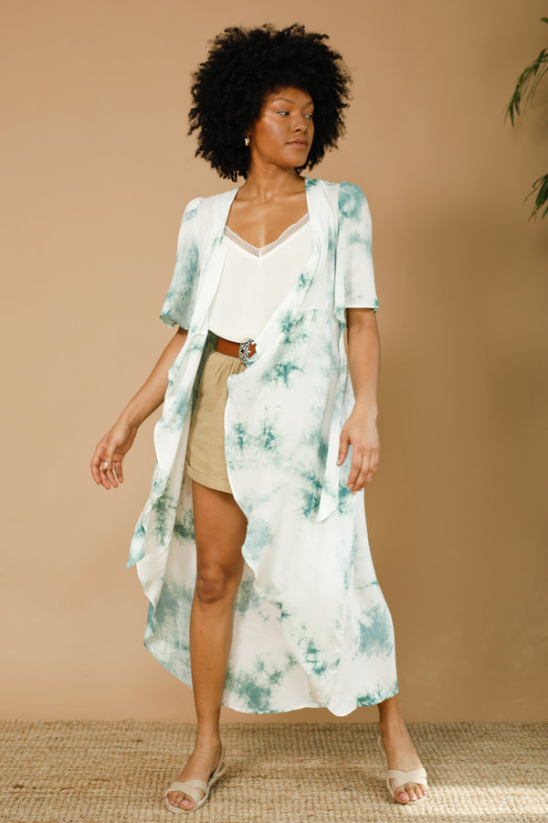 Freedom Tie Dye Wrap Dress