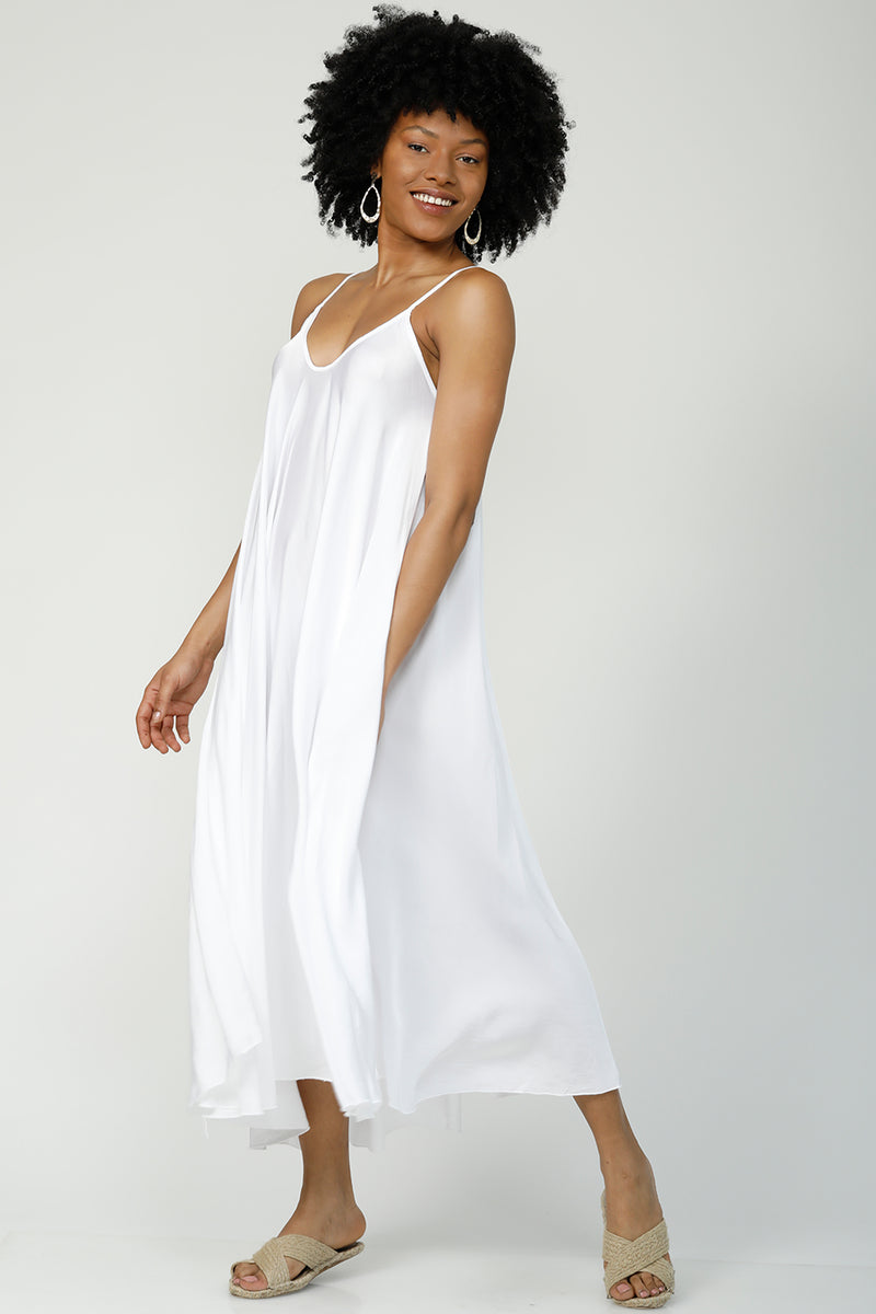 Go With the Flow Oversized maxi dress - Cloud White