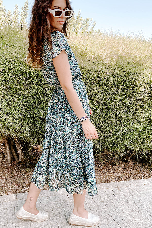 Spring Sisters Floral Midi Dress
