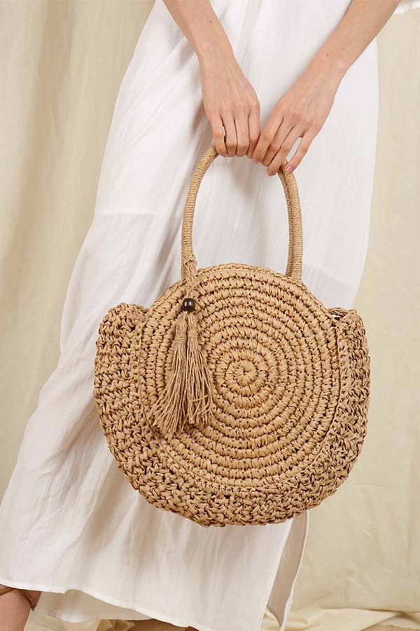 Crop Circles Tote Bag -Silk & Salt