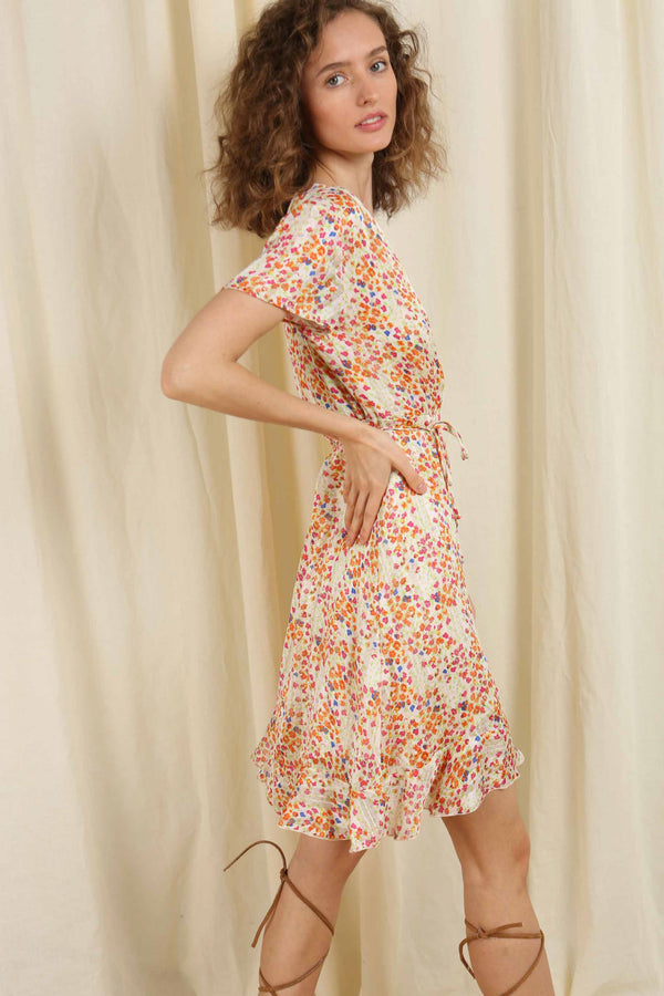 In Full Bloom Wrap Dress