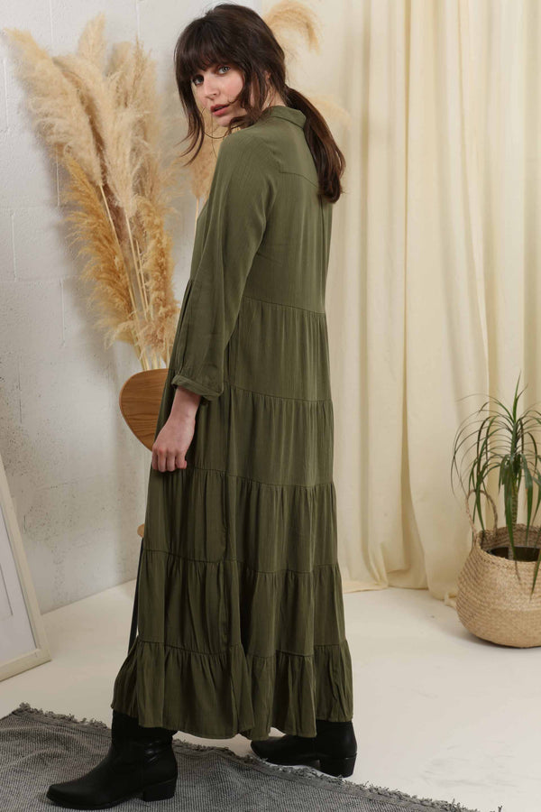 Let's Explore Maxi Dress - Green
