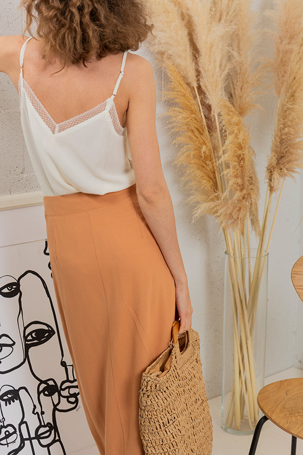 Safari Sisters Wrap Skirt - Soft Orange -Silk & Salt