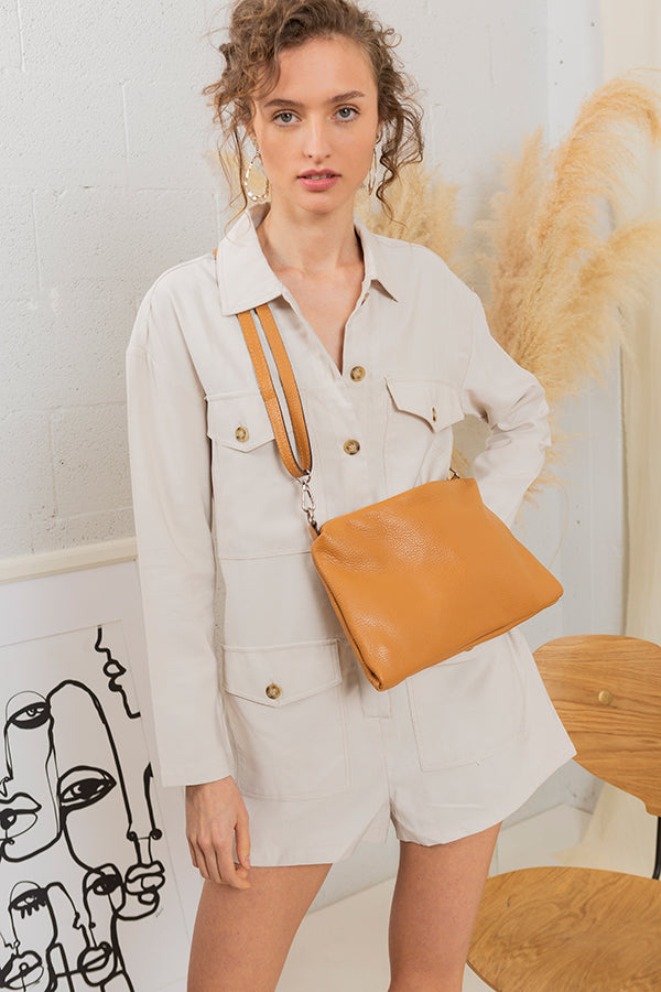 Most Wanted Handbag - Camel -Silk & Salt