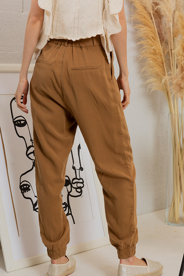 On the Prowl Trousers - Camel -Silk & Salt