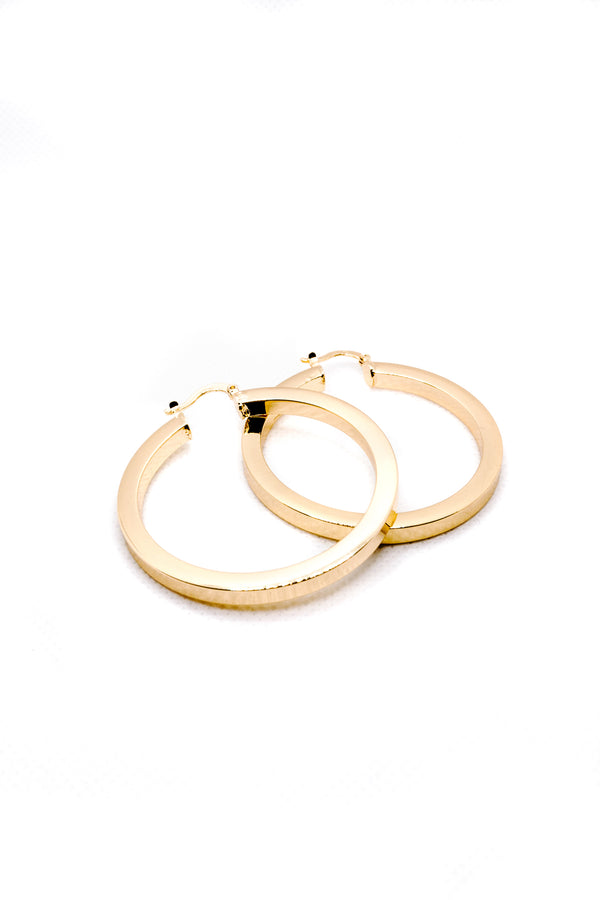 POLY HOOP EARRINGS