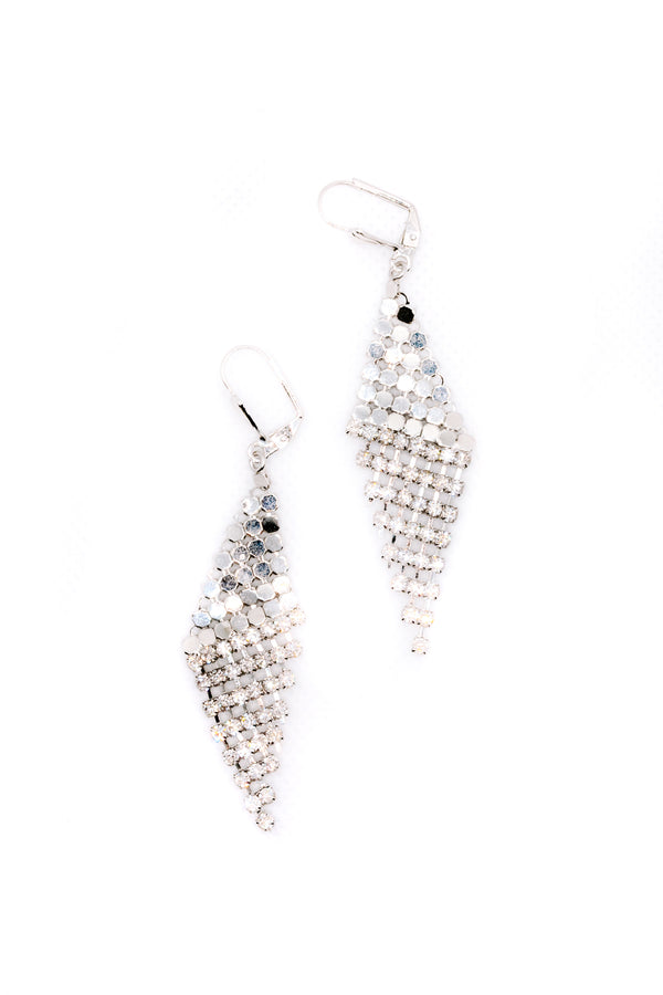 THE MESH SILVER EARRINGS