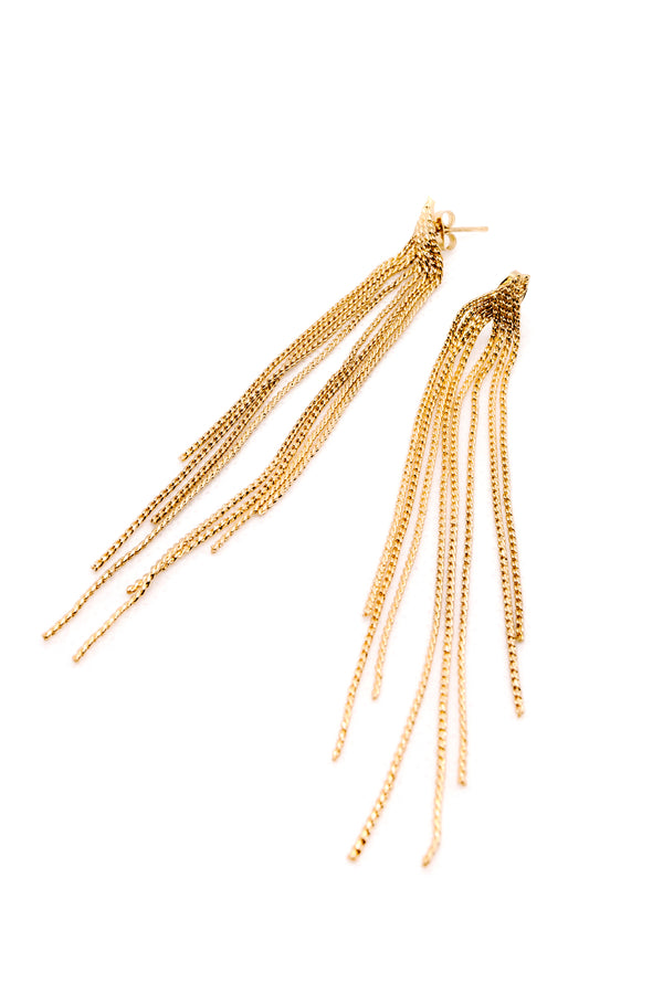 STRINGS GOLDEN EARRINGS
