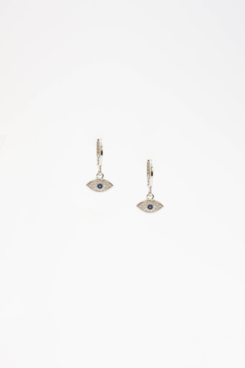 Evil Eye Earrings - SILVER