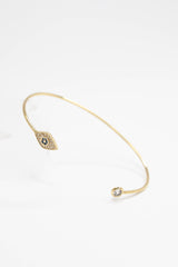 Evil Eye Bangle - GOLD