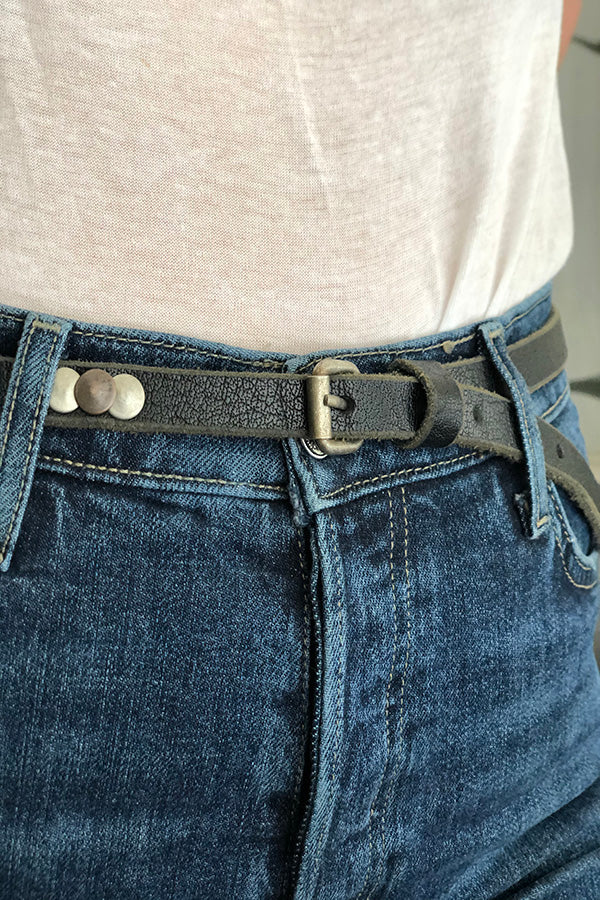 Coin Hunter Skinny Belt -Silk & Salt