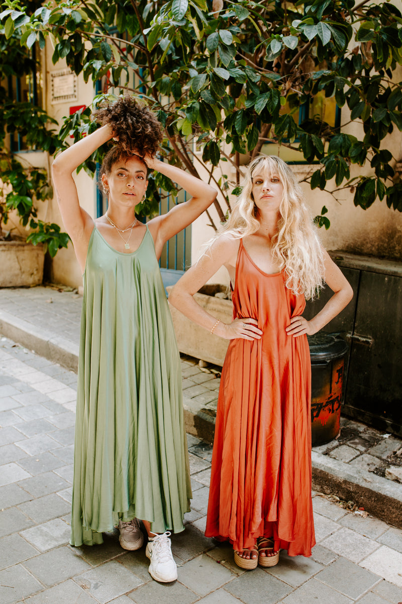 Go With the Flow Oversized maxi dress - Enchanted Green