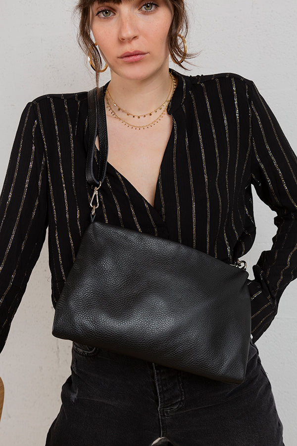 Most Wanted Handbag - Black -Silk & Salt
