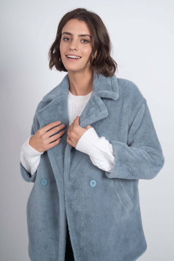 Bear Hug Coat - Blue