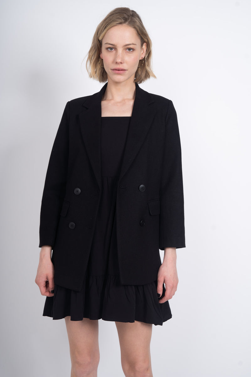 Adore You Soft Blazer - Black