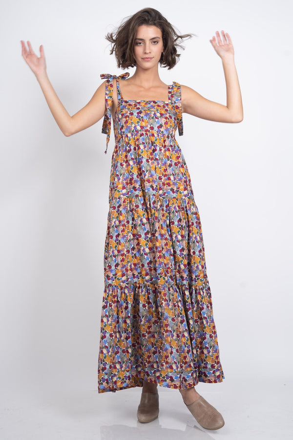 Happy Feelings Maxi Dress - Floral