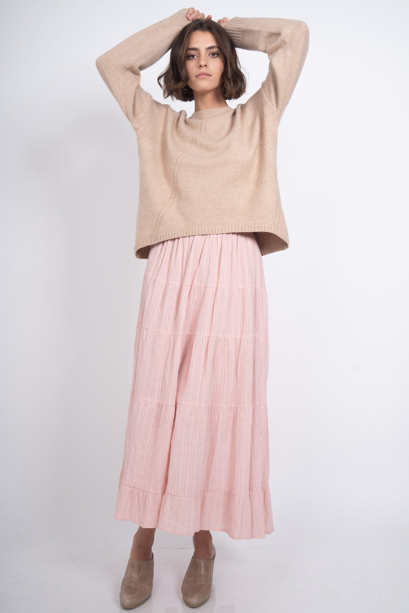 Romantic Adventure Maxi Skirt - Pink
