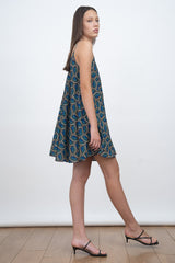GO WITH THE FLOW MINI DRESS - PEACOCK