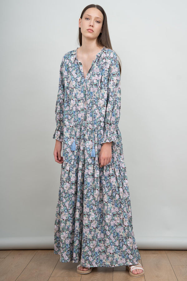 Spirited Away Gown - Blue Floral