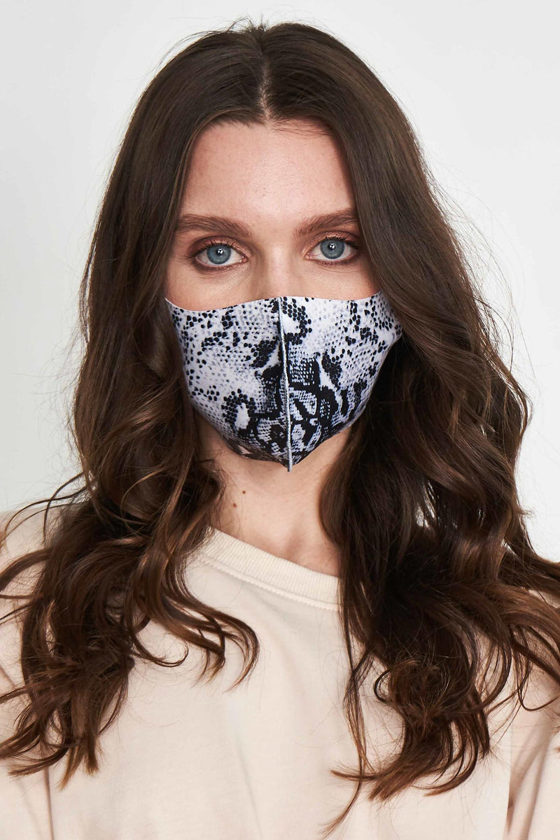 JOIA Animal Printed Mask - BRIGHT GRAY