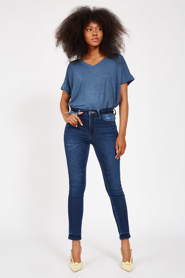FLYING MONKEY Midnight Blue High-Rise Jeans