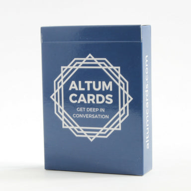 Altum Cards box front view. Good conversation starters.