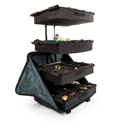 TreeKeeper Bags Telescoping Adjustable Tray OrnamentKeeper Ornament Storage Box Fully Extended