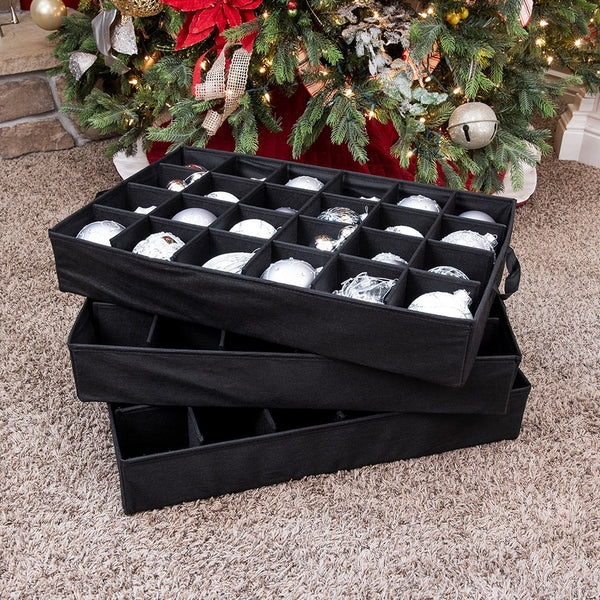 Three Tray Ornament Storage