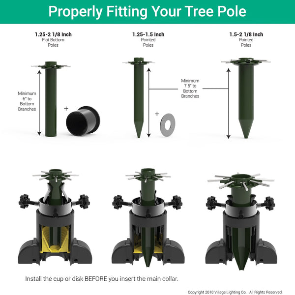 Universal Rolling Tree Stand