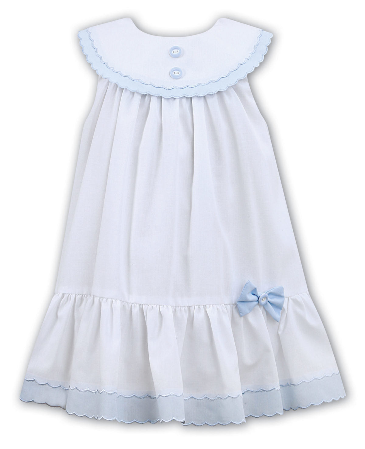 Baby Girls White & Blue Dress