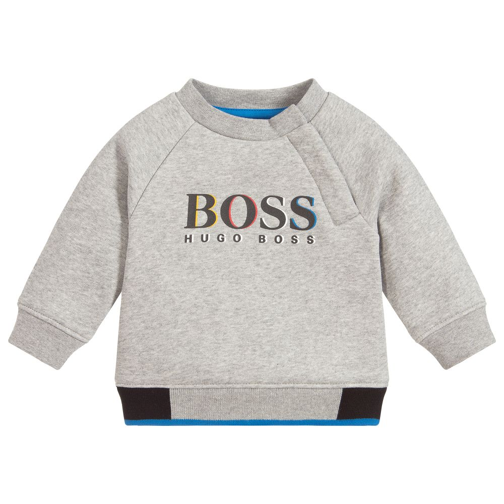 Boys Grey Marl Sweatshirt