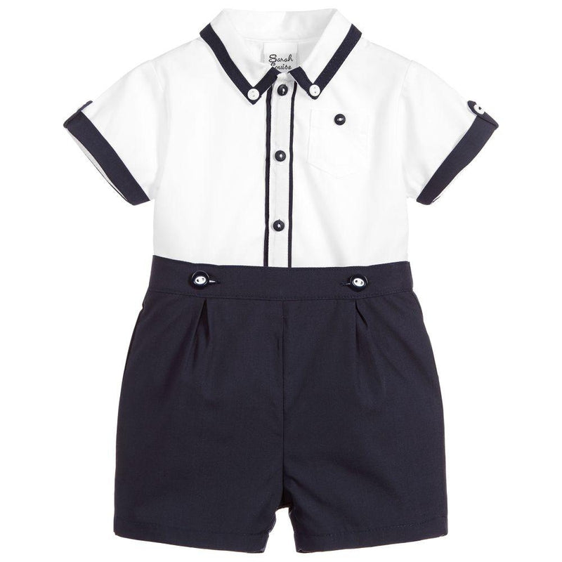 Boys Navy Blue Shorts & Top Set