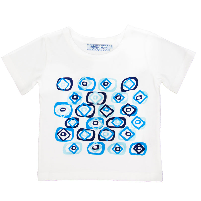 Boys Carioca Flag White T-Shirt