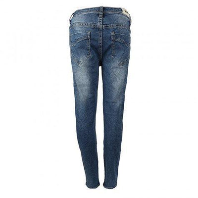 Girls Denim Jeans With Diamante Trim - Junior Couture