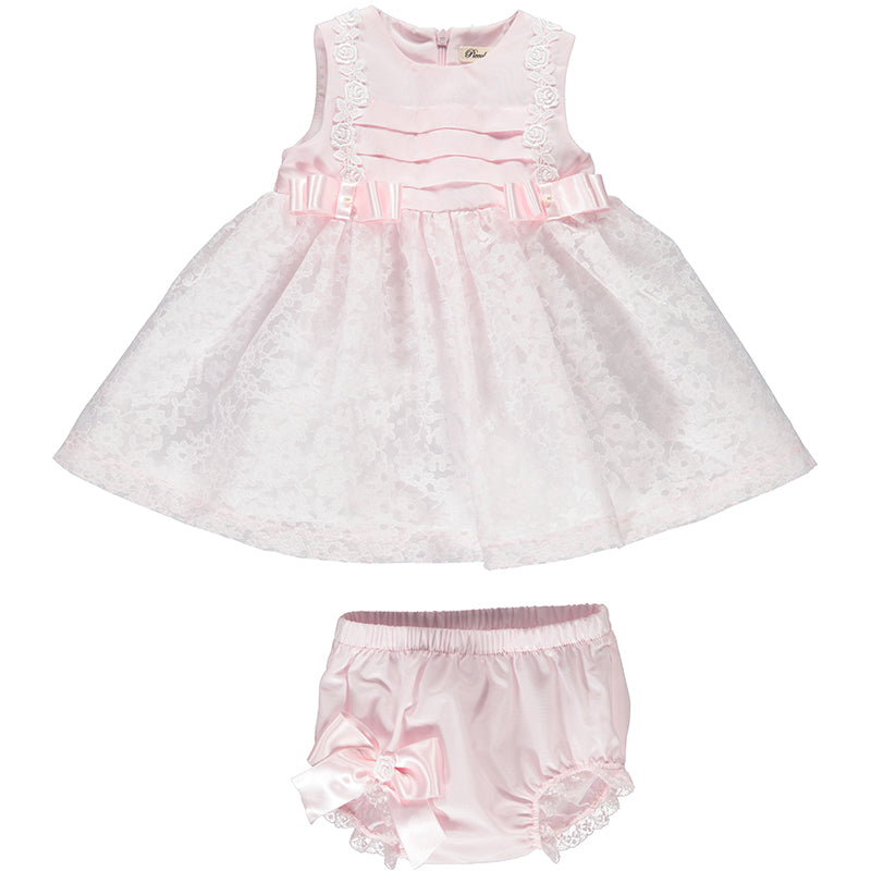 Baby Girls Pink Pearl Embellished Dress