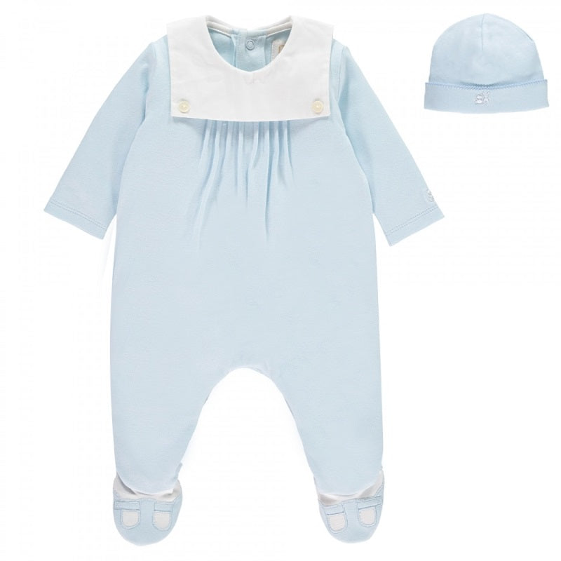 Baby Boys Babygrow & Hat Set
