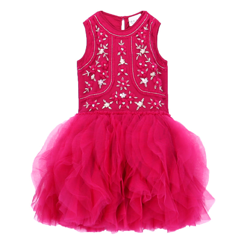 Girls Fuchsia Pink Faberge Dress