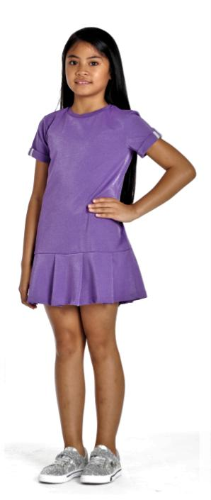 Girls Purple Drop Waist Dress - Junior Couture