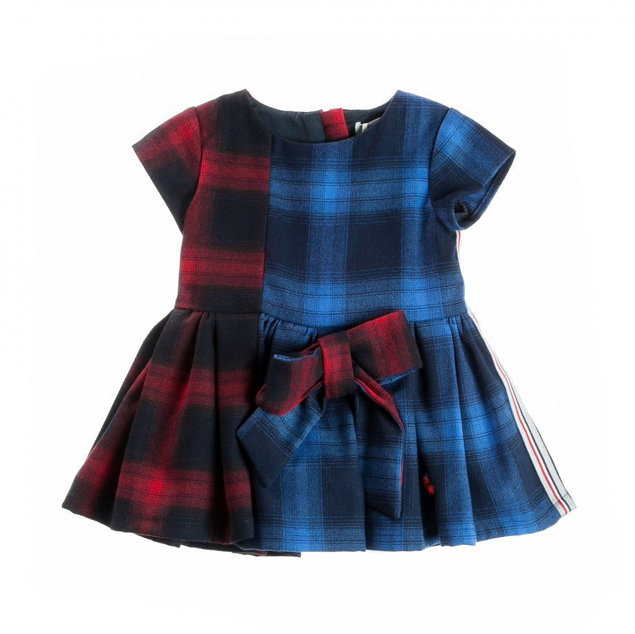 Girls Blue & Red Tartan Dress
