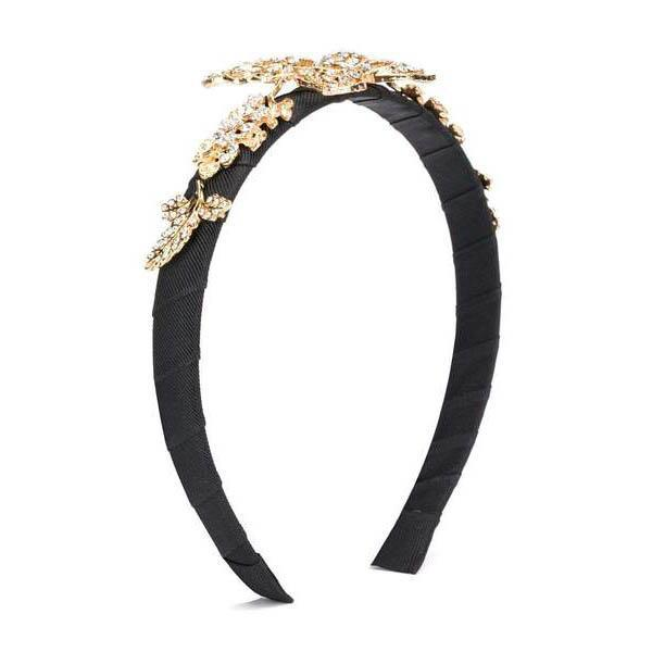 Girls Black Butterfly Hairband