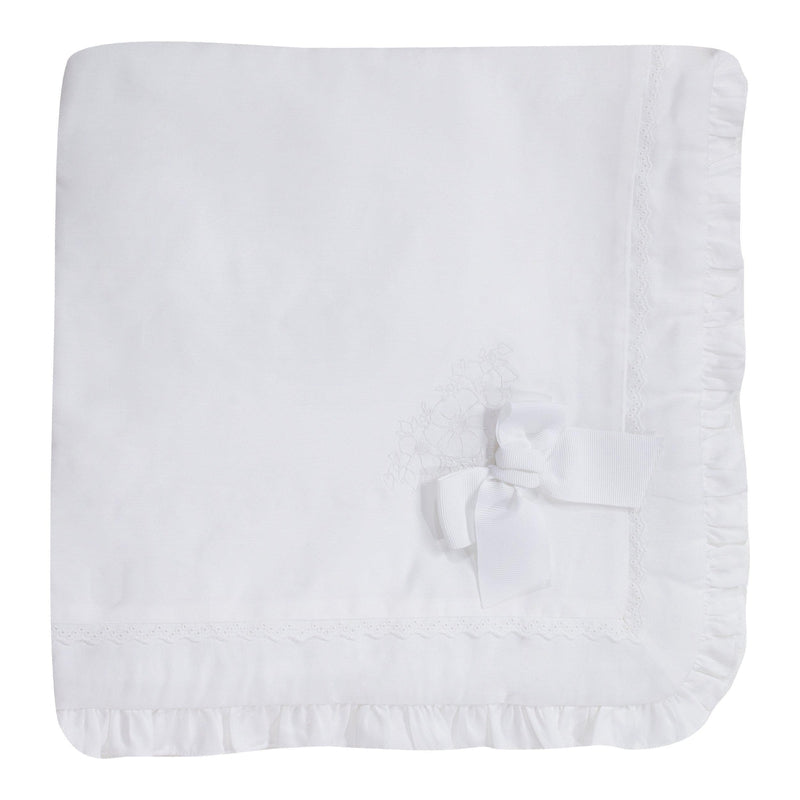 Padded White Baby Blanket - Junior Couture