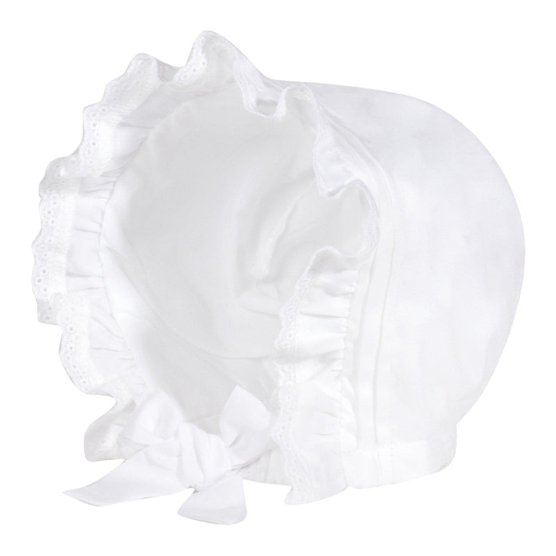 Baby Girls White Bonnet - Junior Couture
