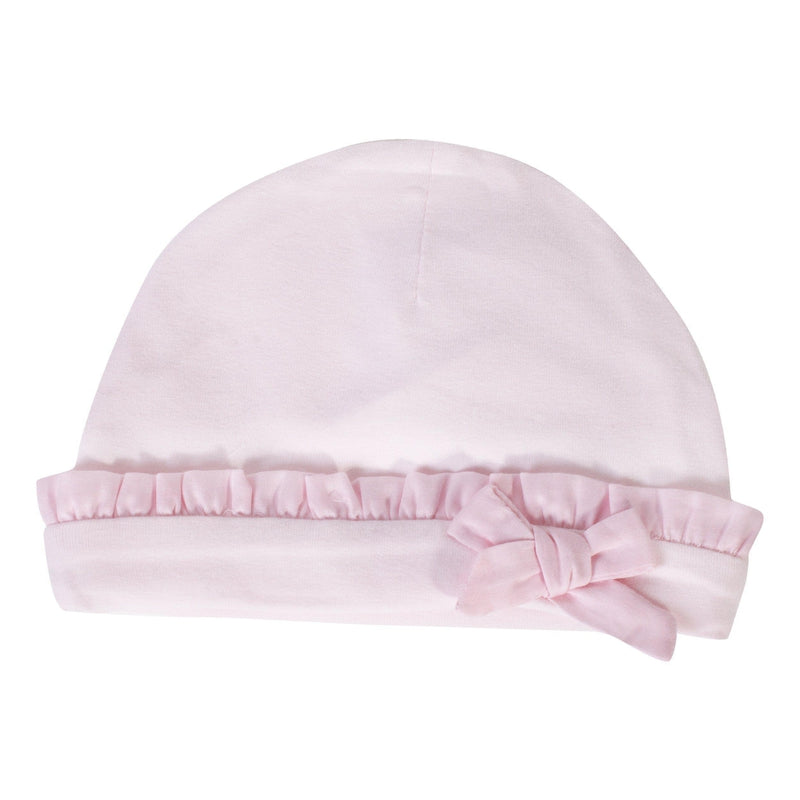 Baby Girls Pink Cotton Hat - Junior Couture