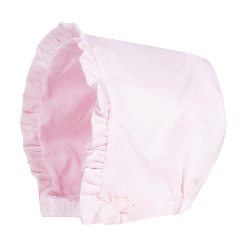 Baby Girls Pink Bonnet - Junior Couture