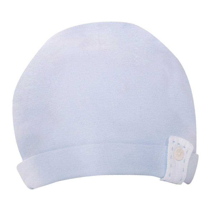 Baby Boys Blue Cotton Hat - Junior Couture