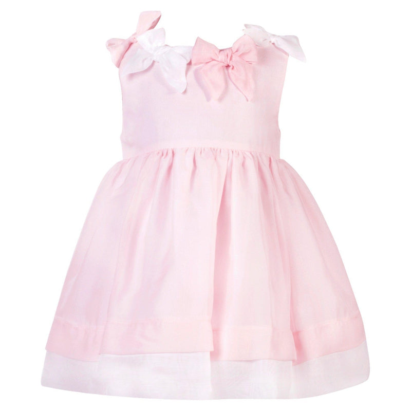 Girls Pink Chiffon Dress - Junior Couture