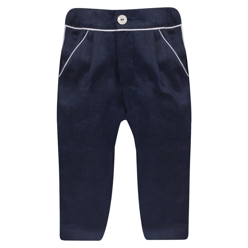 Boys Navy Blue Trousers - Junior Couture