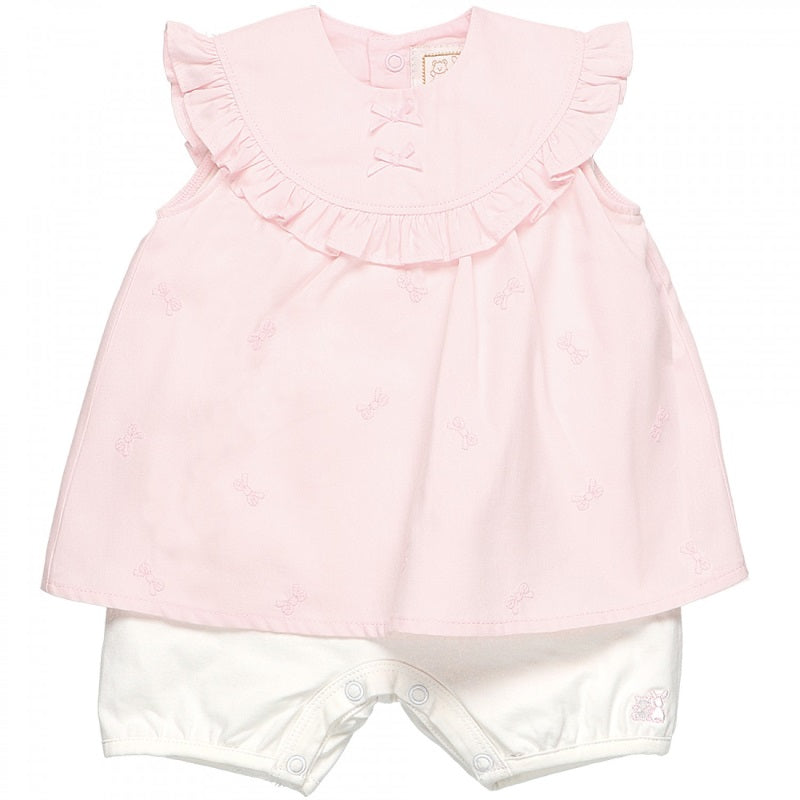 Baby Girls Pink Romper Dress